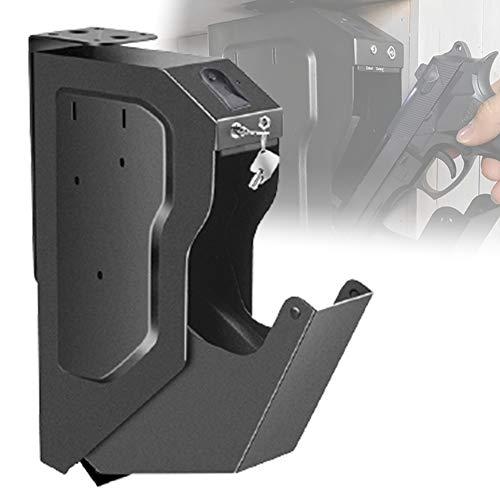 HNWTKJ Caja de Seguridad para Armas, Caja de Seguridad para el hogar con Cerradura, Caja de Seguridad con Cerradura para Huellas Dactilares, Acceso rápido para Caja de Seguridad para Huellas