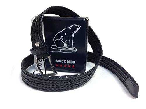 NORTH POLE Cinturón NP156 para hombre en caja de regalo - elástico de piel regenerada