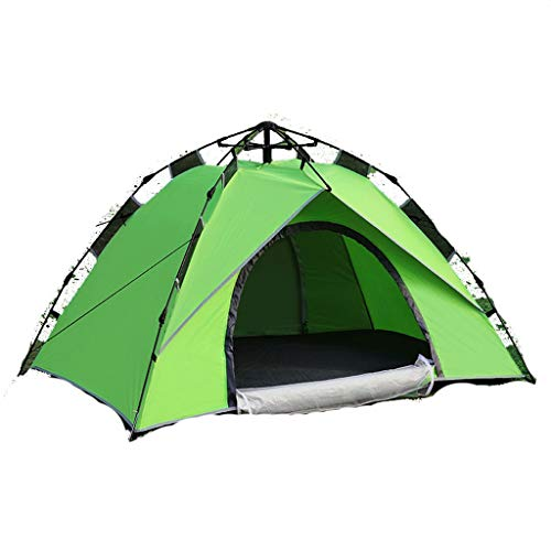 ZHJ Quickly Open Automatic 2-3 Person Tent Mountain Camping Couple Tent Waterproof Windproof Shed Frame Tents (Color : A)