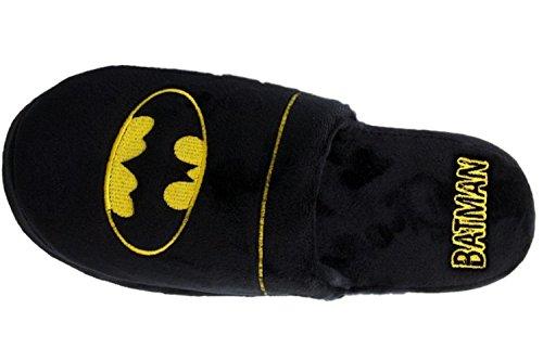 DC Comics Batman Mula Pantuflas - Negro, Hombres 38-41 EU