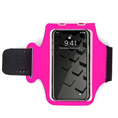 NGDDGS El Bolso del teléfono móvil Titular de Deportes al Aire Libre del brazal del Deporte for el Que se Ejecutan Caja del Filtro Impermeable del brazal (Color : Pink)