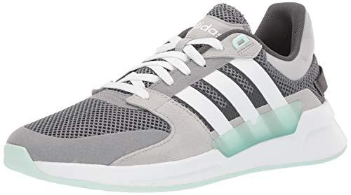 adidas Women's Run90s Running Shoe, Grey/White/ice Mint, 5.5 M US
