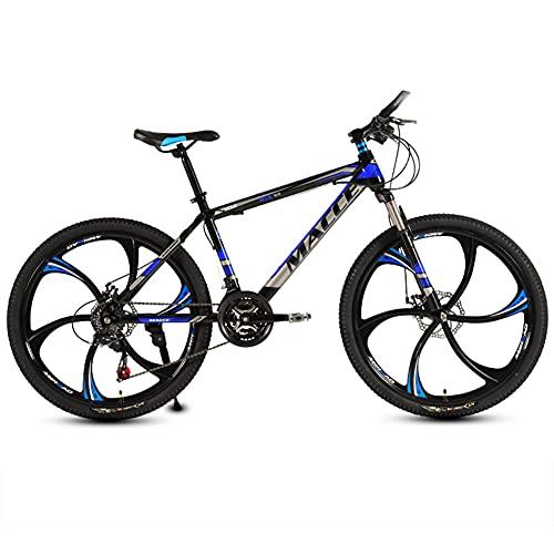 SHANJ 26 Zoll Mountainbike, 21-30 Gang Schaltung MTB Fahrrad für Erwachsene Jugend Herren Mädchen, Vollgefedertes Rennrad, Doppel Scheibenbremsen