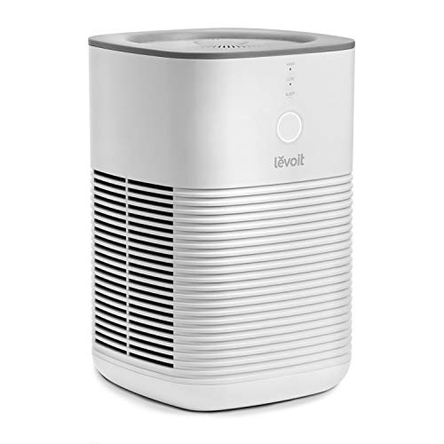 Levoit Luftreiniger mit HEPA Aktivkohlefilter, Luftreinigung für Wohnung Raucherzimmer, Desktop Air Purifier mit Schlafmodus, AC Adapter, 3-Stufen-Filterung gegen Staub Allergien Gerüche Rauch