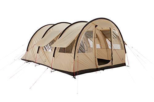Grand Canyon Helena 5 - Tunnelzelt für 5 Personen | Familien-Zelt/Gruppen-Zelt mit Zwei Schlafbereichen | Mojave Desert (Beige)
