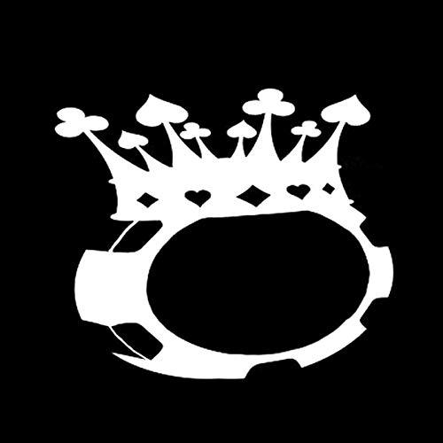 ZI Pegatinas de Coche 14,7 X 12,6 CM Juego de póquer de fichas Juego de póquer Corona Pegatinas de Coche gráficas de Vinilo