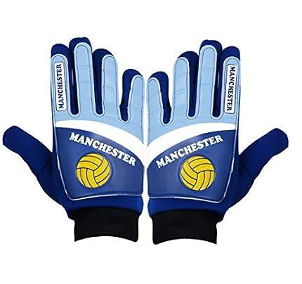Guantes de portero para niños Junior de balón de fútbol (Manchester City)