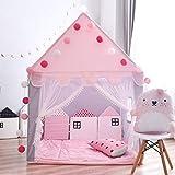LAMPSJN Deluxe Kids Princess Castle Spielhaus, Kinderspielzelt Mädchen Spielzeug for Kinder Indoor...