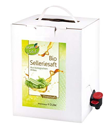 Kopp Vital Bio-Selleriesaft 3 Liter Premiumqualität - 99 Prozent Bio-Sellerie-Direktsaft aus kontrolliert biologischem Anbau
