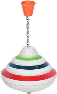 Toyvian Flashing Music Gyro Push Down Spinning Top LED Shining Toys Birthday Gifts for Kids