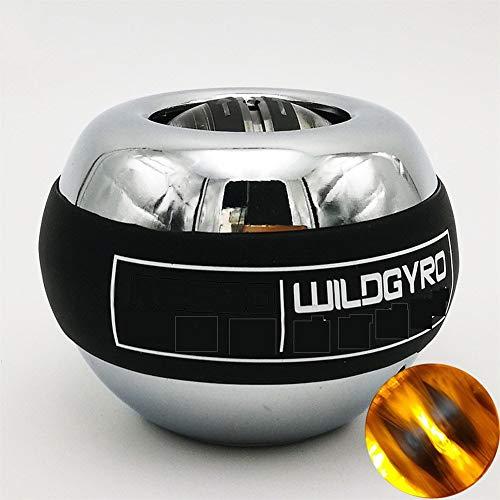 IDWF LED Auto-Start-Power-Handgelenk-Kugel Metall Muskeltraining Druck entlasten Fitness Gyroskop Exerciser Kraft stärkt Ball Einer (Color : Sky Blue)