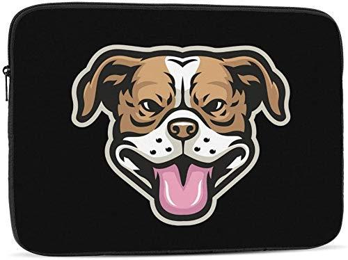 Bolsa de manga para computadora portátil con cabeza de pitbull sonriente compatible con estuche para computadora portátil de moda de 10-17 pulgadas-cabeza de pitbull sonriente, 12 pulgadas