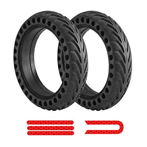 Neumático sólido para Xiaomi M365, Macllar reemplazo de scooter eléctrico para Xiaomi, accesorios para Xiaomi M365, rueda delantera/trasera de 8,5 pulgadas para ruedas de scooter con pegatinas