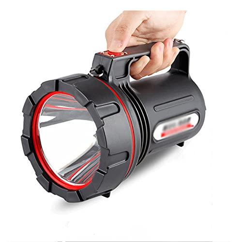 Linternas LED Alta Potencia Para Exterior,Recargable Super Brillante Reflector LED Spotlight Linterna Antorcha Linterna, IPX7 Impermeable/2 Modos, para Camping, Ciclismo, Pesca