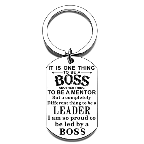 Boss Appreciation Keychain Gifts for Lady Female Men Women Office Appreciation for Supervisor Mentor Leader Birthday Thank You Leaving Going Away Retirement Presents for Coworker Goodbye Christmas