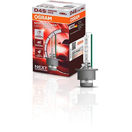 OSRAM XENARC NIGHT BREAKER LASER D4S, luminosité supérieure + 200 %, ampoule xénon HID, lampe à décharge, 66440XNL, boîte carton (1 lampe)