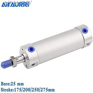 Fevas Round Cylinder 25mm bore 175/200/225/250/275mm Stroke CG1BN Rubber Bumper / CG1BA air Cushion Telescopic Pneumatic Cylinder - (Color: CG1BA25-225)