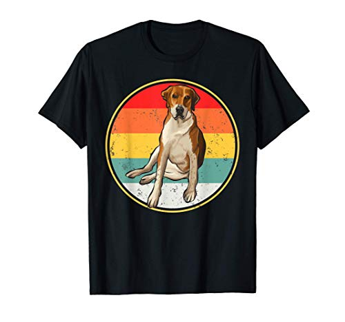 Puesta De Sol Vintage Retro Foxhound Inglés Camiseta