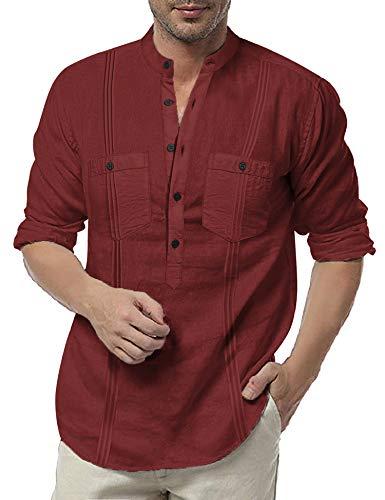 Camisa Cuello Mao marca COOFANDY