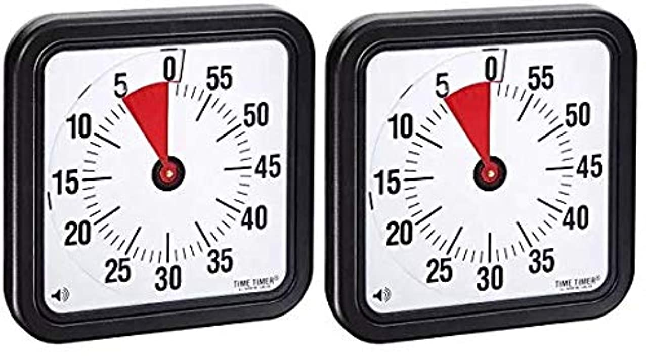 Time Timer Audible Countdown Timer, 12 Inches, Black (2-(Pack))