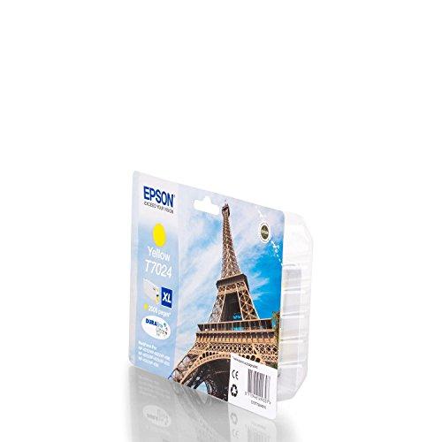 Originale Epson C13T70244010 / T7024 cartucce d'inchiostro (giallo, ca. 2.000 Pagine) per Workforce Pro WP-4015, WP-4025, WP-4095, WP-4515, WP-4520, WP-4525, WP-4535, WP-4545, WP-4590, WP-4595