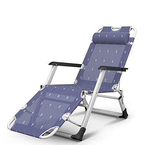 RKY Liegestuhl Falten Laken Menschen Mittagspause Stuhl Freizeit Lounge Stuhl zu Hause Schwangere Frauen Rest Stuhl Balkon Stuhl Büro Rest Stuhl, 3 Arten optional /-/ (Color : A)