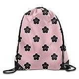 JHUIK Drawstring Bag Backpack,Bolso de cordón portátil Bolsa de Gimnasia Rueda de Ventilador japonés Patrón de Onda Mochila de Camping de Viaje Naranja