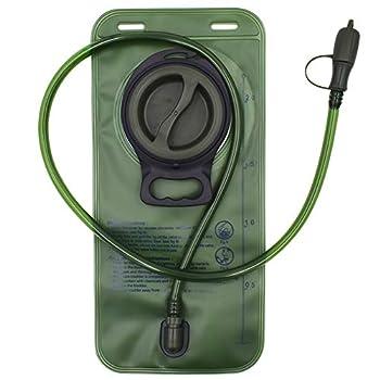 FANDE Hydratation Eau Vessie, 2L Poche a Eau, étanche à l'eau Militaire, Hydratation Réservoir d'eau pour Sport, Randonnée, Camping, Escalade (Vert)