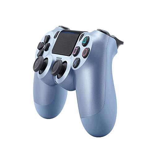 PS4-Controller PS4 / PC-Gamecontroller Vibrationsstreifenlicht Bluetooth Wireless Controller (Titanium Blue)