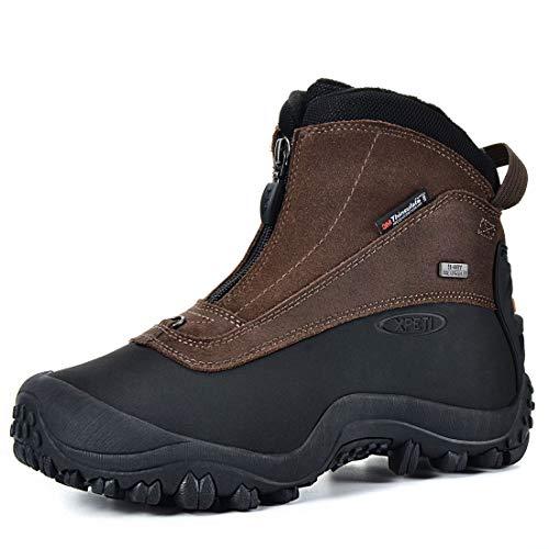 XPETI Men's Snow Rider Zipper Waterproof Winter Hiking Boots
