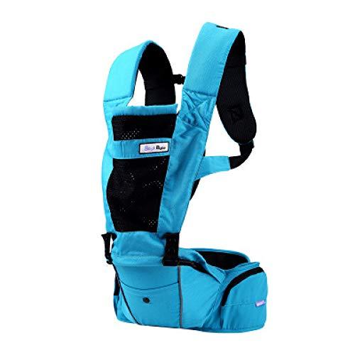 TLTLL 베이비 캐리어 유아 유아용 아기 배낭 인체공학적 위치 3 호흡식 메쉬 액세서리 포켓 블루