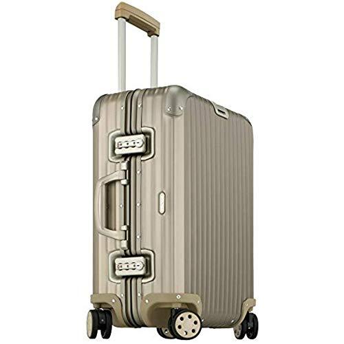 Rimowa Topas Titanium Handgepäck IATA 53,3 cm Multiwheel 32L Koffer – Champagner