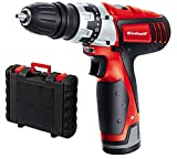 Einhell Perceuse visseuse sans fil sur batterie TC-CD 12 Li (12V, 1300 mAh, 20 Nm,2 vitesses, Mandrin amovible monobloc (10 mm), Eclairage LED, Livré en coffret + chargeur rapide)