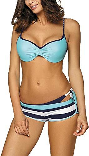 Yutdeng Costume da Bagno Sexy Donna Bikini Sets 3 Pezzi Push Up Imbottito Brasiliano con Pantaloncino Reggiseno Costumi Estate Swimsuit Swimwear Beachwear