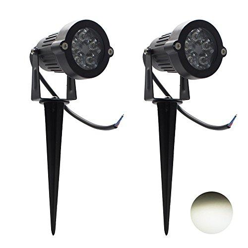 2 Packs, 5W LED Impermeable IP65, Luz de Paisaje al Aire Libre...