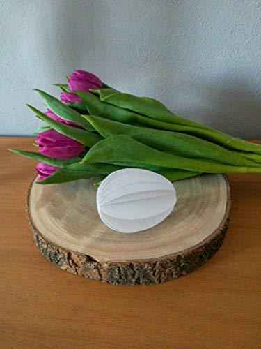 Außergewöhnliche Osterdeko: 6er-Set Eier aus weißem Papier