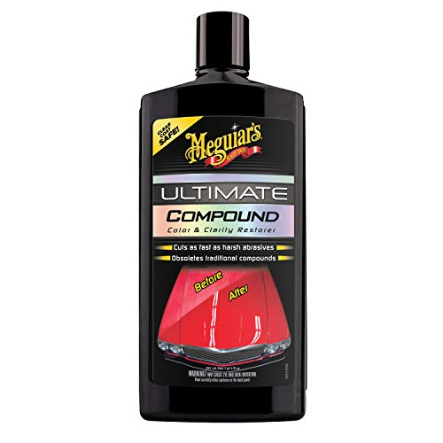 Meguiar's G17220 Ultimate Compound, Color & Clarity Restorer, Scratch & Swirl Remover, 20 Fl oz