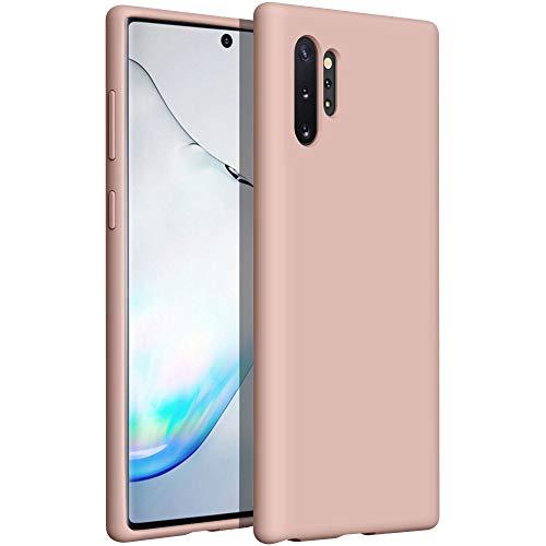 YATWIN kompatibel mit Handyhülle Samsung Galaxy Note 10 Plus Hülle Silikon, Ultra Dünn Flüssig Silikon Hülle Samsung Note 10 Plus 5G Hülle, Schutzhülle Samsung Note 10 Plus Hülle 6,8 Zoll Rose