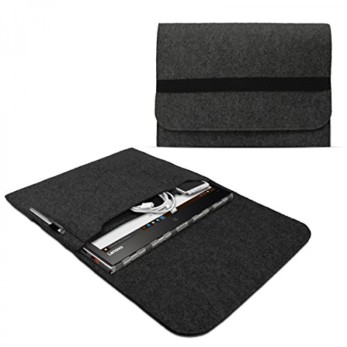 eFabrik Schutztasche für Lenovo Yoga 900, Yoga 900S, Yoga 910, Yoga 920 Tasche aus Filz Filztasche Hülle Sleeve Soft Cover Schutzhülle Sleeve, Farbe:Dunkelgrau