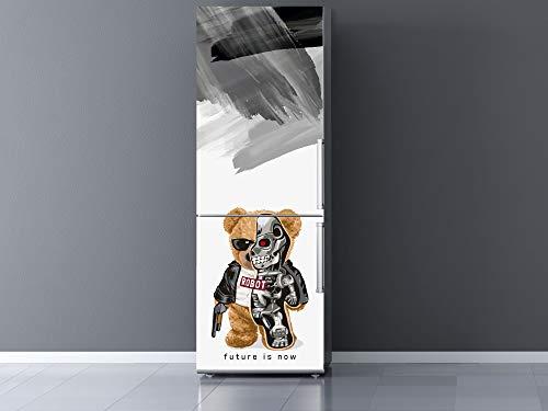 Oedim Vinilo para Frigorífico Oso Robot 60x185cm | Adhesivo Resistente y Económico | Pegatina Adhesiva Decorativa de Diseño Elegante