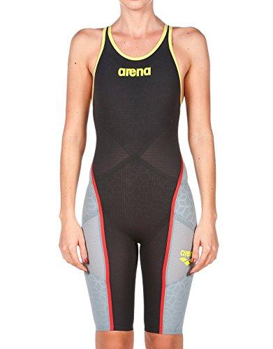 Arena Powerskin Carbon Ultra Open Back - Schwimmanzug Damen,  Mehrfarbig (Dark Grey/Fluo), 30
