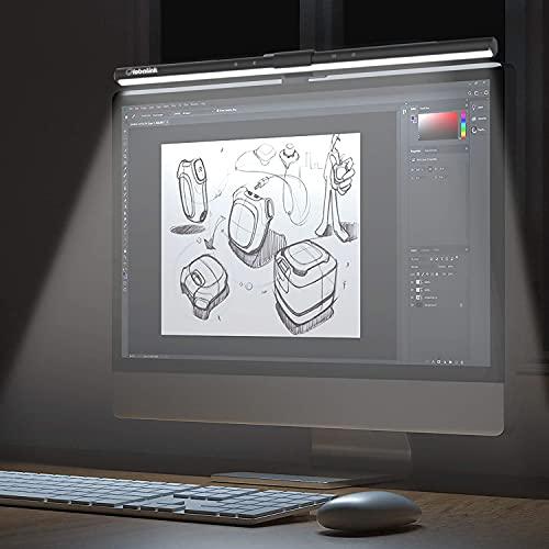 Lampara Monitor Ordenador 52cm,GlobaLink Lampara Escritorio LED,Lampara Lectura Luz Monitor PC con Botones Táctiles,Alimento USB,Atenuación Automática,Luz Ajustable Amigable en Cuidar Ojos para iMac