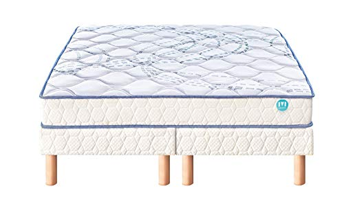 Ensemble Matelas 100% Latex Merinos SCOPIT Confort Morphologique 19 cm 180x200