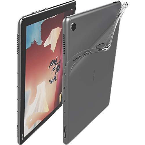 ebestStar - kompatibel mit Huawei MediaPad M5 Lite 10.1 Hülle Tablet 10.1 Handyhülle [Ultra Dünn], Klar TPU Schutzhülle, Silikon Hülle, Transparent [M5 Lite 10.1: 243.4 x 162.2 x 7.7mm, 10.1'']