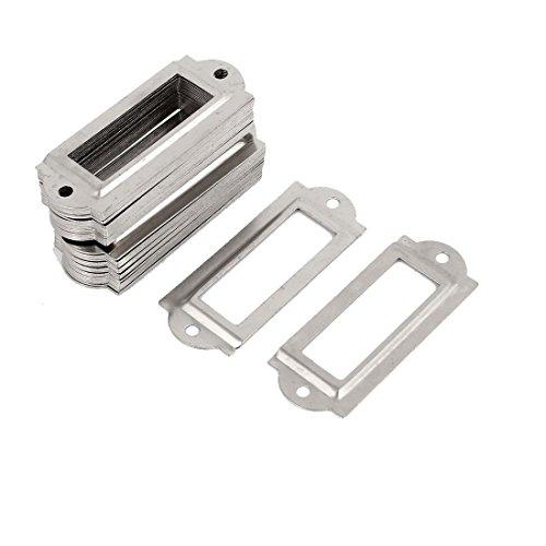 50 Stück Silber Metall Aktenschrank Etikettenrahmen Schrankrahmen Rahmen de