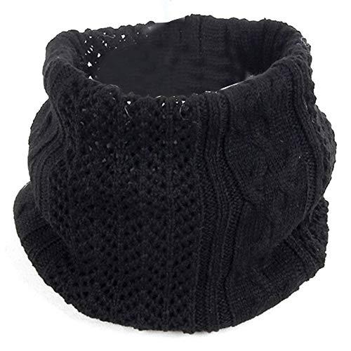 TOOGOO Collares de Lana de Punto para Hombres y Mujeres, Parejas, Invierno Salvaje, Collares de un Solo Bucle, Circunferencia de la Cabeza Negro