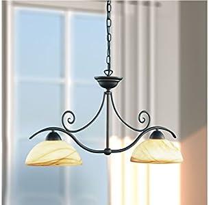Wofi Lacchino - Lámpara de techo (2 luces, altura ajustable)