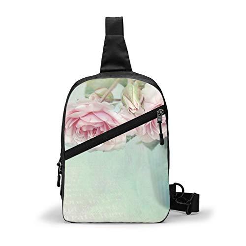Mochila romántica con cojín en la actualidad, estilo desgastado, para el pecho, para viajes al aire libre, senderismo, mochila para hombres y mujeres