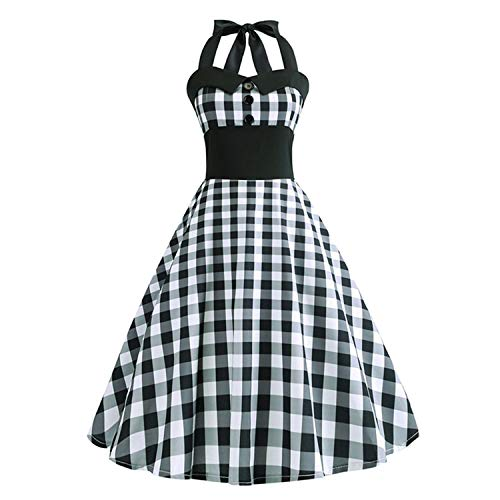 HaHapo , comfortable50s 60s Summer Women Robe Rockabilly Swing Pinup Vestidos Party Dresses,Large,Wq1083-008