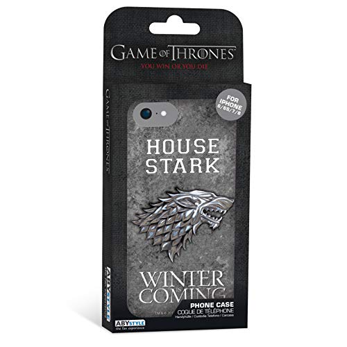 ABYstyle - Game of Thrones - Estuche para teléfono - Stark (para iPhone 6, iPhone 6S, iPhone 7, iPhone 8)